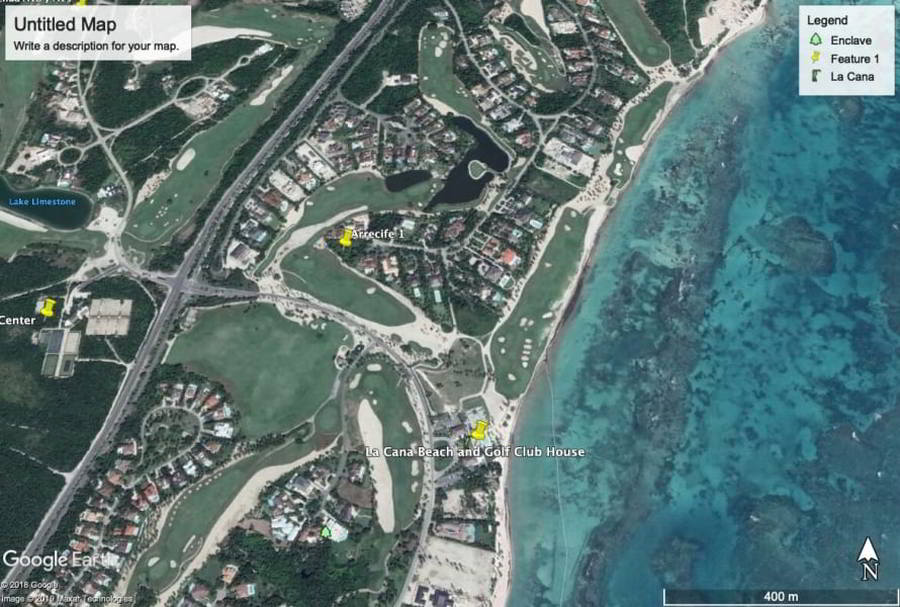 punta cana properties Google earth
